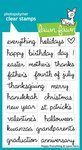 Lawn Fawn - Clear Acrylic Stamps - Happy Everything offers