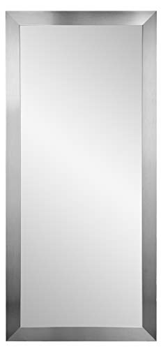 BrandtWorks BM1floor USA Made Grand Silver Leaning Floor Mirror, 32 X 71,