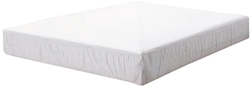 Pur Luxe Base Suede Box Spring Encasement, 38 x 80 x 9-Inch, White