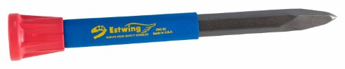 Estwing Rock Chisel – 9″ x 3/4″ Geological Tool with Pointed Tip & Vinyl Cushion Grip – ERC-9C