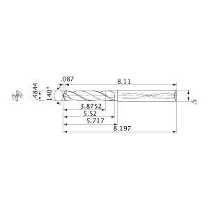 Mitsubishi MWS04844X8DB Solid Carbide Internal Coolant Drill PART NO MBH284824 31//64 MWS Series ALTiN Coating 8XD