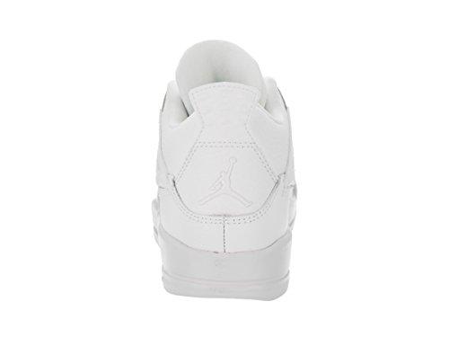 Jordan Nike Kinder 4 Retro BP Basketballschuh Weiß / Metallic Silber