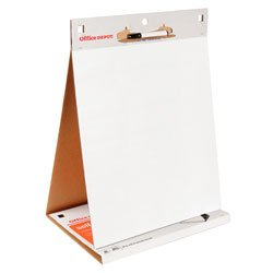 table top flipchart easel pad with foldout marker tray 20 sheet