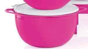 Tupperware Thatsa Mega Bowl, 42 Cups, Neon Electric Pink