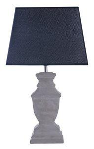Lampe De Table Au Design Industriel Avec Pied En Beton Et Abat Jour