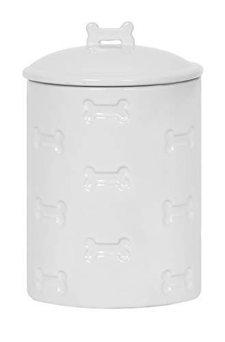 Unleashed Life Bone Appetit Collection – Porcelain Dog & Cat Bowl for ()