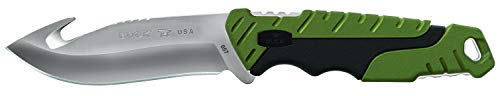 Buck Knives 0657GRG Pursuit Large Fixed Blade Hunting Knife with Guthook and 2-Tone Heavy-Duty Polyester Sheath, 420HC -