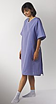 Hospital Gown - 100% Cotton Patient Gown - Hyperbaric Gown