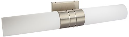 Nuvo Lighting 60/2936 Two Light Wall Sconce Vanity, Brushed Nickel, Brushed Nickel Collection Double Wall Sconce