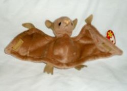 Amazon.com  BATTY the Bat (Brown w pink nose) - Ty Beanie Babies by ... c9bab89df