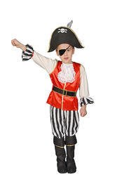 Deluxe Pirate Boy Children's Costume Set Size: Extra (Deluxe Pirate Boy Set Costume)