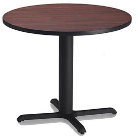 Bistro Tables: Dining Height Models (Round Table) Regal Mahogany TF/Black/