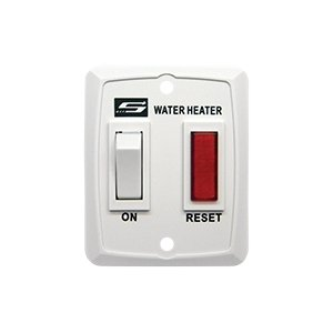 (Suburban Water Heater Switch & Lite W/Plate - White - 232589, 69-9863)
