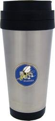 """""""Seabees"""" Insulated Stainless Coffee Cup 16oz"""