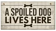A Spoiled Dog Lives Here, Vintage Farmhouse Home Decor, Wooden Hanging Sign, Wall Art, Rustic Decorative Wood Plaque, Puppy Lover, Kitchen, Bathroom, Entryway, Hallway