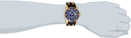 Invicta Men s 6993 Pro Diver Collection GMT Blue Dial Black Polyurethane Watch