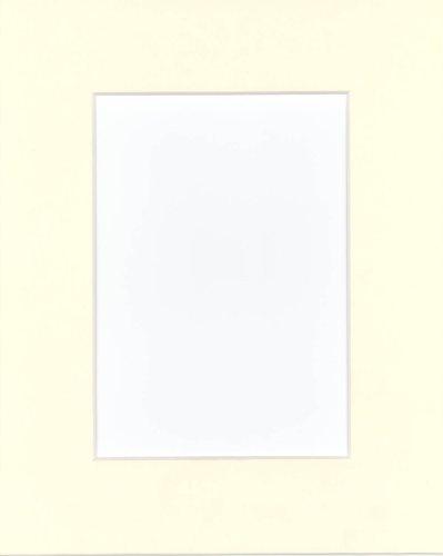 (16x20 Pre-cut Acid-free light cream mat, fits 11x14, Package(20) )