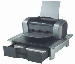 Fellowes Black And Silver Printer Stand by Fellowes