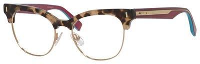 Fendi - COLOR BLOCK FF 0163, Cat Eye, acetate, women, HAVANA CYCLAMEN(VHB), - Color Fendi