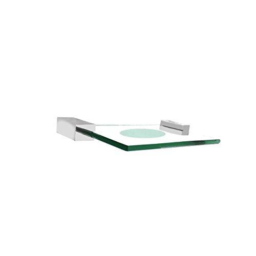 Saboneteira de vidro cristal incolor Suitte Luxo