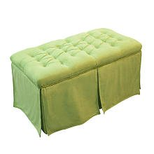 Komfy Kings Tufted Toy Box-Minky, Green
