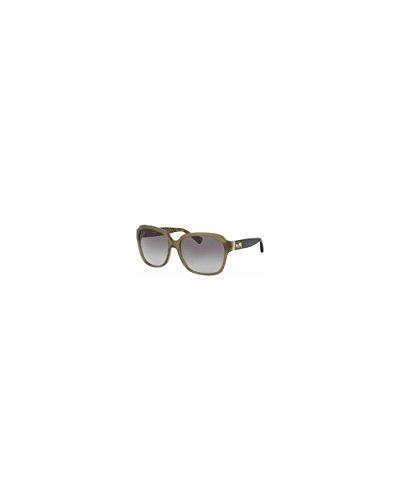 Gradient Olive (Coach Women's HC8185 Sunglasses Olive/Dark Tort Gold Sig C / Olive Gradient 58mm)