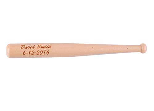 Groomsmen Gifts Baseball Bats (Personalized Mini Baseball Bat Natural Wooden Custom Groomsmen Gifts for Ring Bearer)