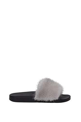 Givenchy Slippers and Clogs Women - Fur (BE08209806) UK Gray