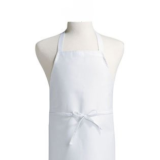 Plain Front Kitchen Apron, White, 3 Pack ()
