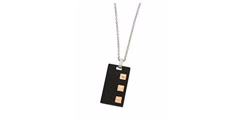 (Zoppini Pyramid - Stainless Steel Black Necklace)