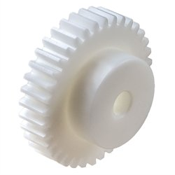 Spur Gear Made of POM with hub Module 3 48 Teeth Tooth Width 25mm Outside Diameter 150mm