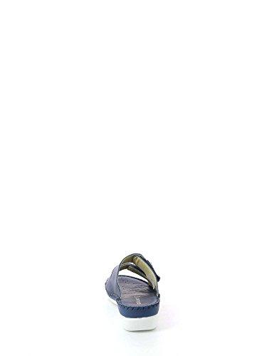 Cera Sandalo Ci2108 Grunland Pelle Blu Ciabatta dq1dt