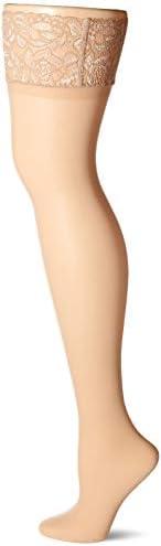 Hanes womens Curves Sheer Lace Thigh High