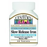 21st Century Slow Release Iron Tablets, 60 Count (Compare Active Ingredient To Slow Fe) by 21st Century (Century Slow Release Iron compare prices)