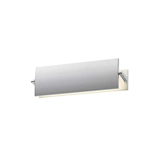(Sonneman Lighting Aileron 12-inch LED Bright Satin Aluminum Sconce - Silver)