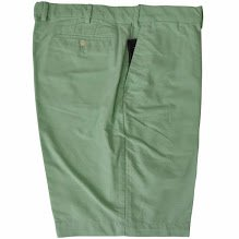 [Men's Oxford Clubhouse Shorts-CourseGreen-42] (Misses Flat Front Shorts)