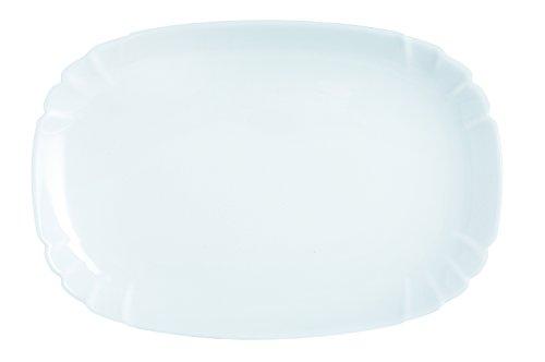 Dajar Luminarc Lotusia 34cm Serving Plate, Glass, White, 34x 23,2x 2,2cm