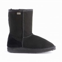 EMU Australia Platinum Stinger Lo Womens Sheepskin Boot Stingers in Black Size 8 (Emus Boots)