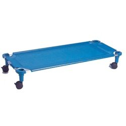 "Creative Colors 525T-BL Standard Cot Dolly, 52"" x 22"", Blue Cover/Legs"