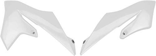 (Ufo Plastics Yz65 Radiator Cover Wht Ya04867-041 New)