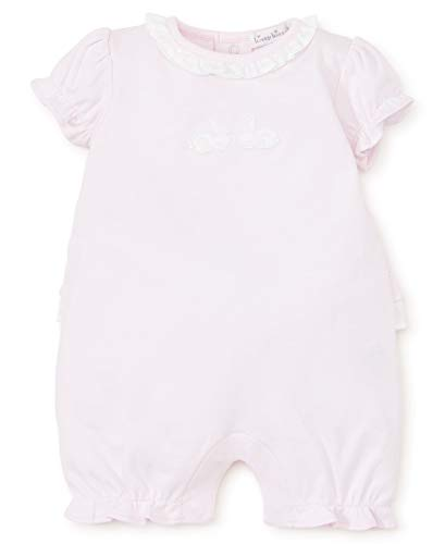 Bunnies Pique - Kissy Kissy Baby-Girls Infant Pique Bunny Hop Pink Short Playsuit-Pink-12-18 Months