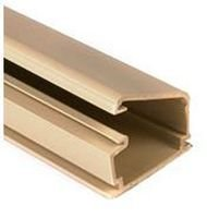 Raceway Duct, Price Per Foot, Pack of 4 6 Foot Pieces, Solid Wall Series, 44.45 mm, 25.4 mm, Ivory