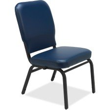 Lorell LLR59595 Vinyl Back/Seat Oversized Stack Chairs, 5.3