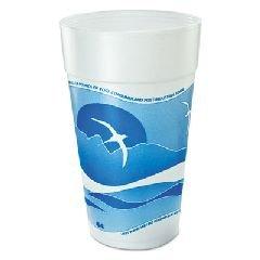 Dart 44AJ32H Horizon Flush Fill Foam Cup, Hot/Cold, 44 oz.,