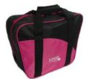 Epco Aurora Soft Pack Combo Bowling Ball Bags - Ball/Shoes - Black & Hot Pink