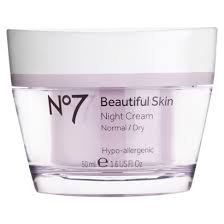 No7 Beautiful Skin Night Cream For Normal / Oily Skin 50Ml