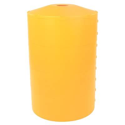"24"" Dia. Yellow Light Pole Guard41"" H x 24"" Dia Yellow 21yvlGKv2jL"