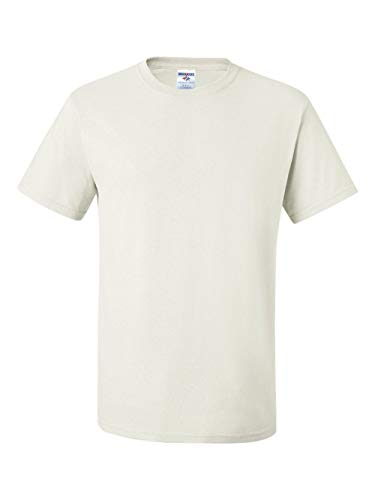 Jerzees 5.6 oz., 50/50 Heavyweight Blend T-Shirt, Large, WHITE ()