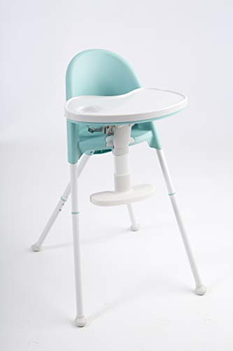 Primo Cozy TOT Deluxe Convertible Folding High Chair & Toddler Chair - Teal, Teal/White