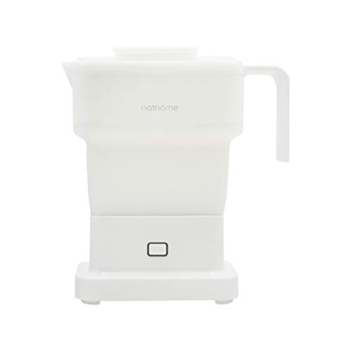 Wictoka Mini Square Folding Electric Kettle Removable Handle Portable Electric Kettle On-Demand, Separate Power Line, No Resistance to Pour Water, More Convenient to Receive